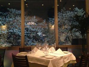 目黒川の夜桜ディナー「リストランテ カシーナ カナミッラ」